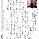 Postal enviado pelo estudante de Engenharia de Energia Yuri Vandresen Pinto.